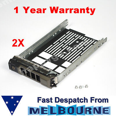 "2x F238F G302D X968D 3.5"" SAS HD Tray Caddy Dell PowerEdge T620 R620 MD1200 12G"