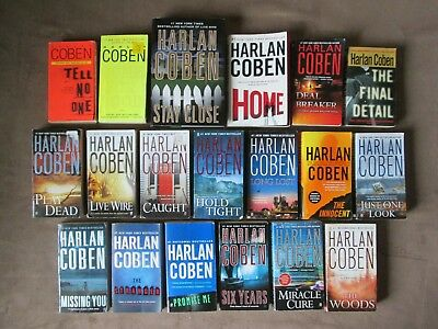 Lot of 19 HARLAN COBEN Thriller Books, 7 are MYRON BOLITAR Series, HOME
