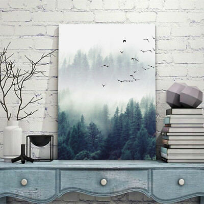 Forest Landscape Wall Art Canvas Print Painting Poster Home Decoration No Frame