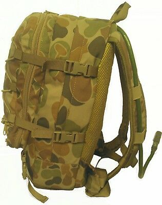 Auscam Hydro Organiser Military Backpack 12Lt Cargo - #Free!! 2L Bladder - Tas