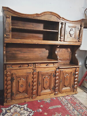 Exceptional Buffet Antique of the Alps Fir tree / Larch Savoie