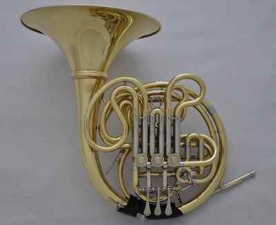 Prof. JINBAO Gold Double French horn F/Bb Detached Bell Cupronickel tuning 310.5