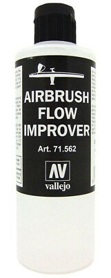 200 Ml Airbrush Flow Improver Vallejo Thinner Dropper 10 Drops Drying Of Paint