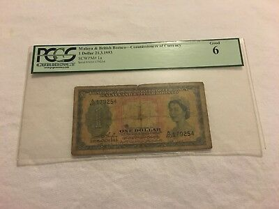 Pcgs Currency - Malaya And British Borneo - Commissioners Of Currnency $1 - 1953