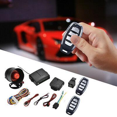 Car Protection Alarm Security System Anti-theft  Keyless Entry Siren +2 Remote