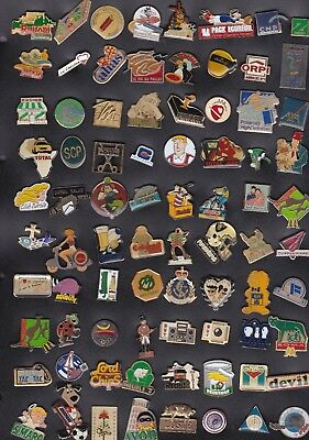Lot de 80 Pin's divers et variés