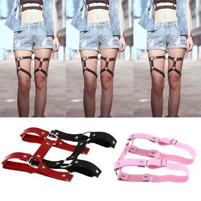 Style Stockings Harness Garter Belt Suspenders Leg Ring PU Leather Punk Gothic