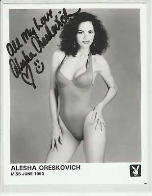 Alesha Oreskovich Playboy Playmate Miss June 1993 signed swimsuit promo