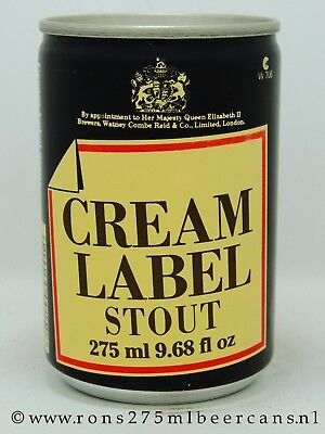 Watneys Cream Label Stout  275 ml, 9-2/3 oz  beer can from UK