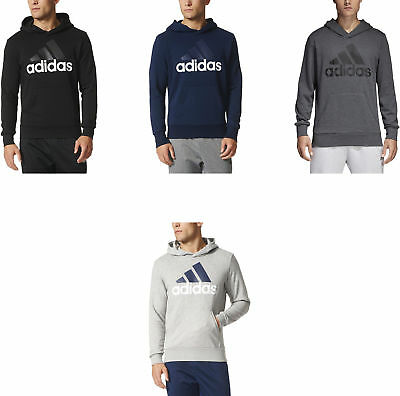 adidas Men's Essential Linear Logo Pullover Hoodie, 4 Colors