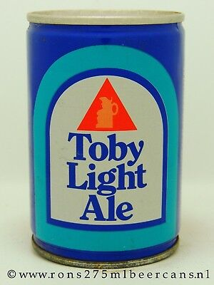 Toby Light Ale  275 ml, 9-2/3 oz crimped steel beer can from UK