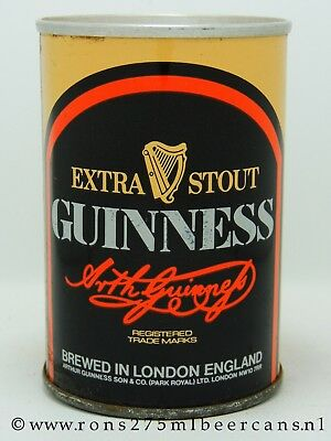Guinness Extra Stout 275 ml, 9-2/3 oz straight steel beer can from UK