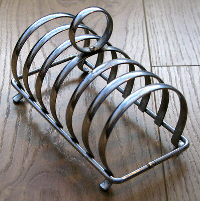 Chrome Toastrack 1950's Vintage 6 slices Excellent condition