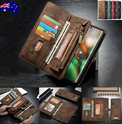 For Samsung Note 9 S8 S9 Plus S7 Leather Magnetic Removable Wallet Case Cover AU