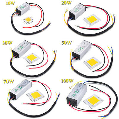 10W 20W 30W 50W 70W 100W LED Puce Chip LED Driver High Power Supply Imperméable