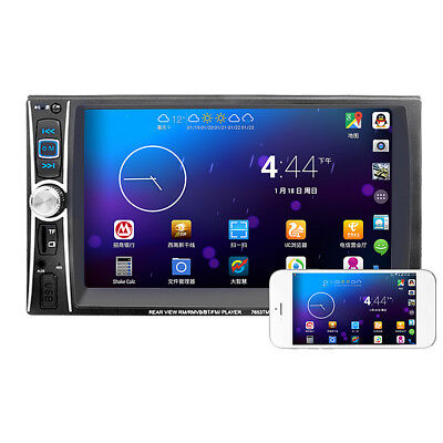 """6.6"""" Double 2 DIN Car MP3/MP5 Player Bluetooth Touch USB FM Stereo Radio&Camera"""