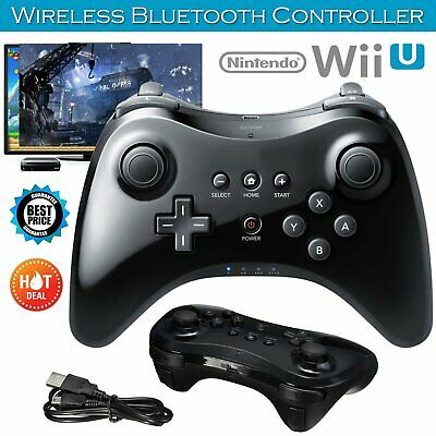 Wireless Gamepad Hand Joypad Cable & Remote Controller For Nintendo Wii U Pro UK