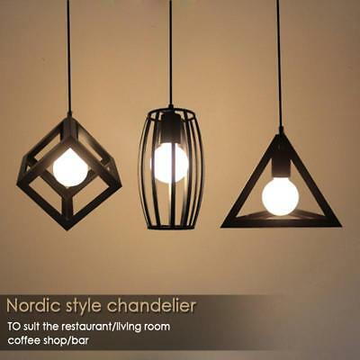 modern industrial caged metal ceiling pendant light shade vintage