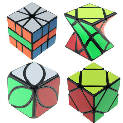 Cube Set Of 4 Speed Puzzle Magic Skewb Lvy SQ-1 Twisty Cube Kids Toy Game