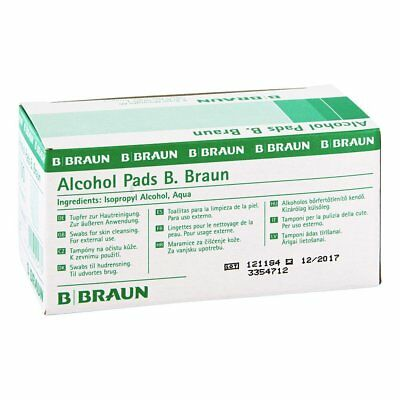 Braun Alcohol Pads Desinfektion Hautdesinfektion Pack: 100 Stück
