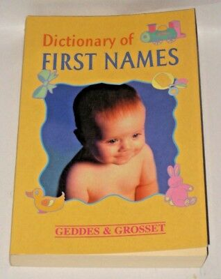 BABY FIRST NAMES DICTIONARY Very Good Condition