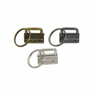 "25mm 1"" Key Fob Hardware for Keychain Split Ring Wrist Wristlets Webbing keyring"