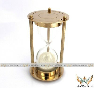Sand Timer Nautical Brass Hourglass Vintage Collectible Maritime desk decor