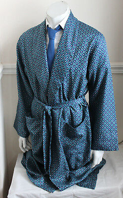 vintage LLOYD ATTREE & SMITH paisley silky dressing gown smoking jacket mens L