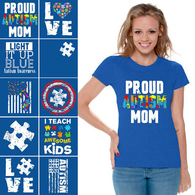 Autism Shirt Women Autism Awareness Shirts Autism Mom Shirt Light it Up Blue