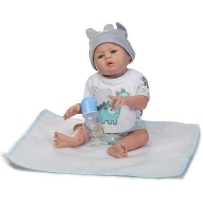 """Reborn Full Body Silicone Boy Dolls Look Real Baby Anatomically Correct Toys 20"""""""