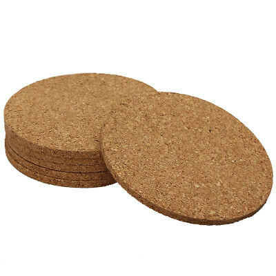 Round Cork Coasters Suitable to Engrave Heat Protect 9,5 cm Diameter 6 mm Thick