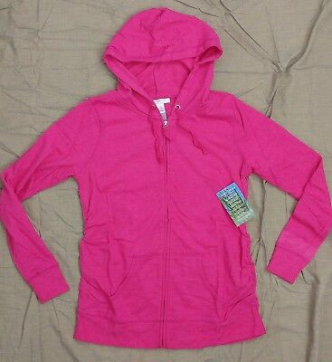 Motherhood Insect Shield Womens Maternity Pink Hoodie Zip Jacket SZ M ~ New!