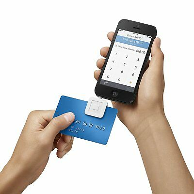 Brand New Square CreditDebit Card Reader for Smartphones -White - free Shipping!