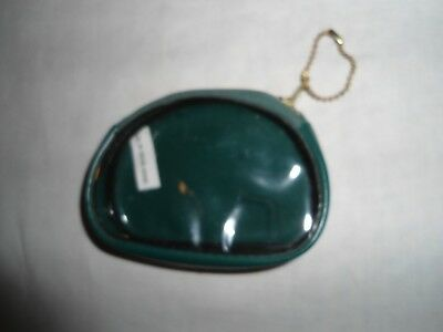 Vtg. Plastic Coin Purse Made In Hong Kong,zipper And 1 Clear Side