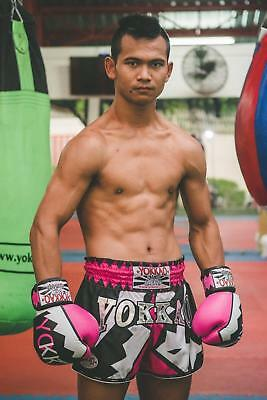 Yokkao Carbonfit Frost Pink Muay Thai Boxing Shorts