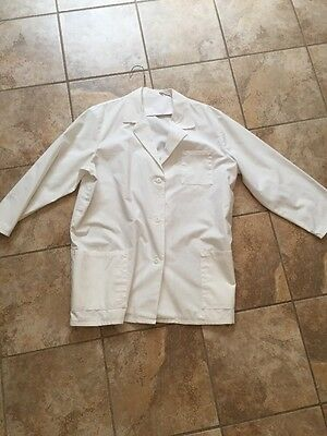 "Crest White Woman's 18W Lab Medical Doctor 3 Pocket 30"" Long Lab     🔬Coat!"