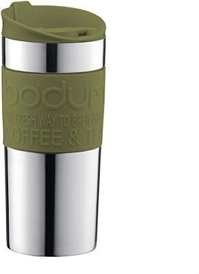 Bodum 0.35L 12 fl oz Stainless Steel Travel Mug Insulated Vacuum Thermal - Olive
