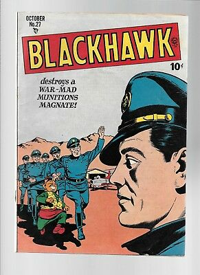 BLACKHAWK #27 Oct 1949 Reed CRANDALL WARD Cole ROCHESTER World War II Comic