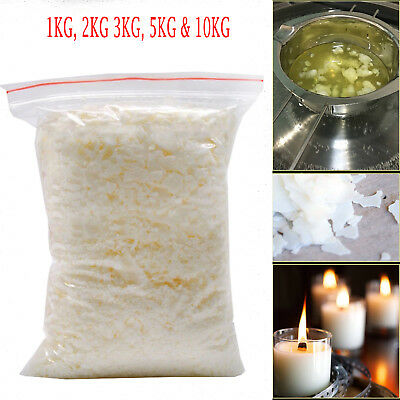 Natural Soy Wax Container Flakes Clean Burning Blend Pure Candle Making Soya Wax