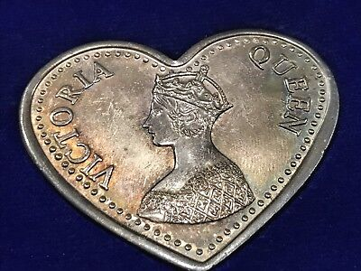 Rare! 100 GMS Of .999 Silver Heart Shaped Heirlooms George V & Queen Victoria