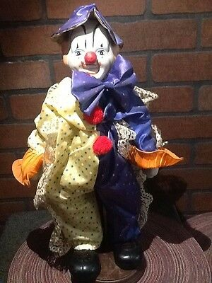 Vintage Porcelain Clown Music Box - Heritage 18""