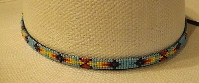 Native Southwest  Indian Beaded  Hat Band War Arrow Pattern