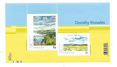 Canada Scott 2148 Souvenir Sheet Paintings by Dorothy Knowles MNH F-VF