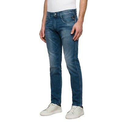 replay blue jeans Herren anbass leicht Stretch Hose slim fit M914Y 31D 133