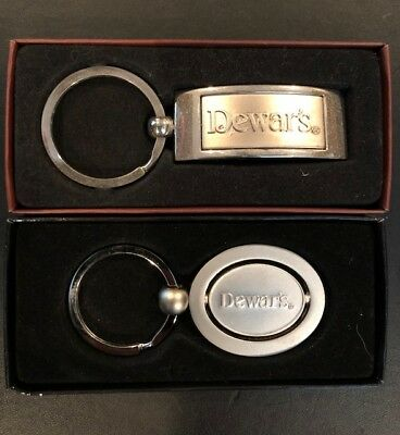 Dewar's Scotch Key Chains in boxes 2 different styles
