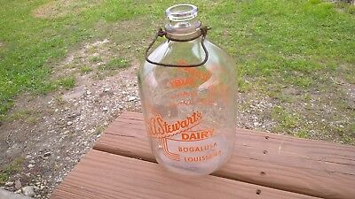 C.A. Stewart's Dairy one gallon glass jug bottle Bogalusa Louisiana