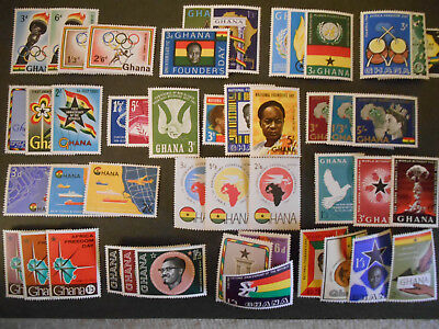 Ghana stamps 1960-1962, many in complete sets, all MNH - see photo for details