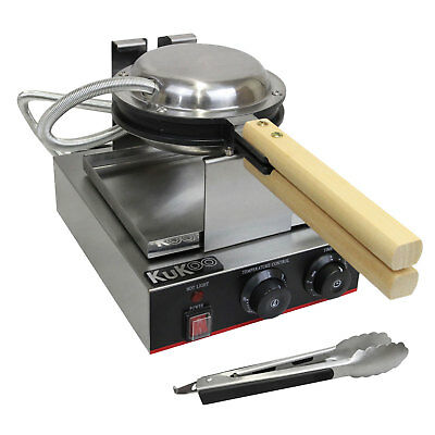 Single Waffle Maker Iron Non-Stick Commercial Catering Kitchen Stainless Steel