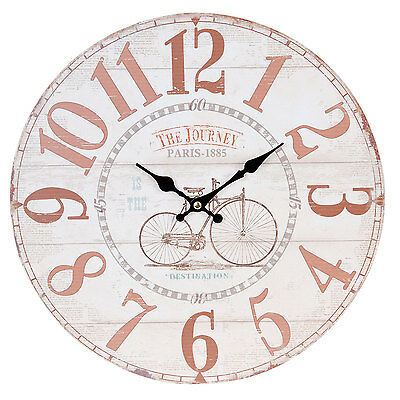Clayre & Eef Vintage Watch Wall Clock Nostalgic Country House Style Paris Shabby