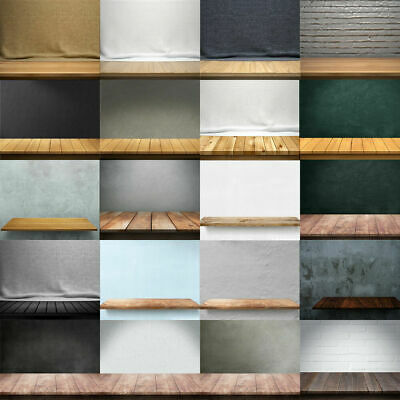 Retro Wall & Plank Vinyl Floor Photography Background Studio Photo Backdrop Kit